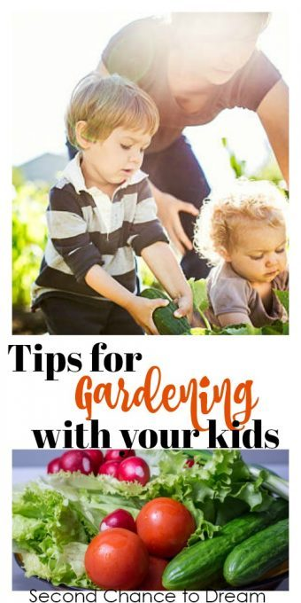 Second Chance to Dream: Tips for Gardening with your kids #gardening #children #boredombuster