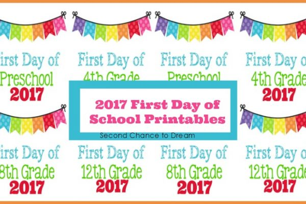 2017 First Day of School Photo Printables
