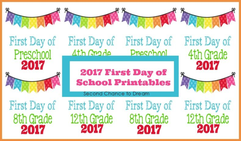 Second Chance To Dream - 2017 First Day of School Photo ...
