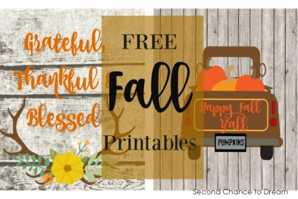 Grateful, Thankful & Blessed-Free Fall Printables