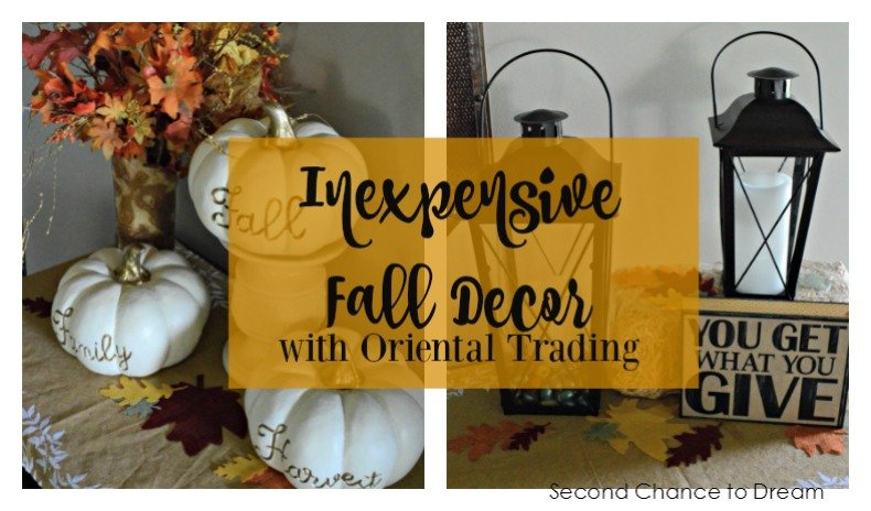 Second Chance to Dream- Inexpensive Fall Decor with #OrientalTrading