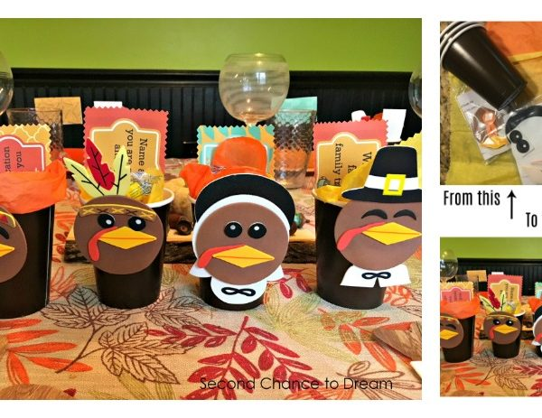 Second Chance to Dream: Quick & Easy Turkey Favor Cups #Thanksgiving