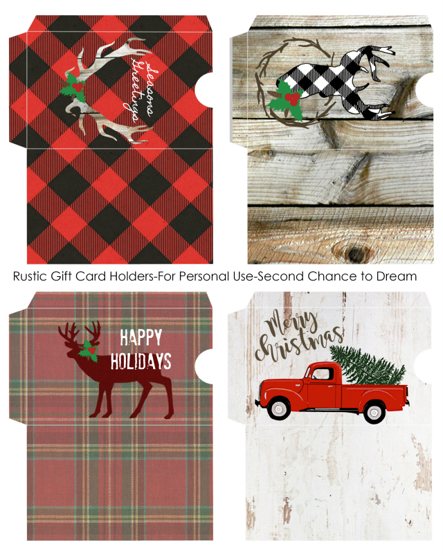 Second Chance to Dream: FREE Rustic Christmas Printables #rustic #rusticdecor #christmas #free #Printables