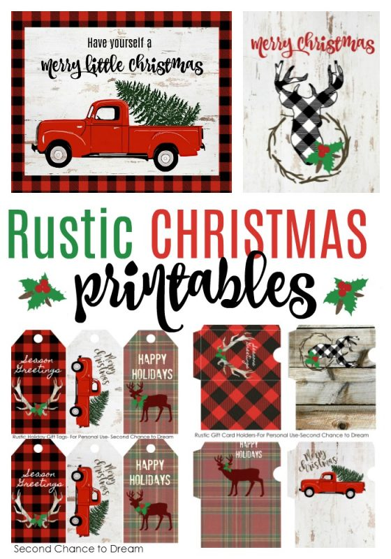 Second Chance to Dream: FREE Rustic Christmas Printables #rustic #rusticdecor #christmas #free #Printables #farmhouse