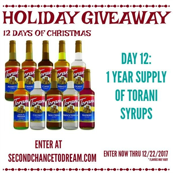 Second Chance to Dream: Torani Syrup Giveaway #Torani #Giveaway #coffee