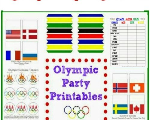 FREE 2018 Winter Olympic Party Printables