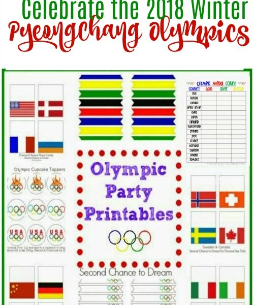 Second Chance to Dream: Free 2018 Winter Olympic Party Printables #Pyeongchang #Olympics #wintergames
