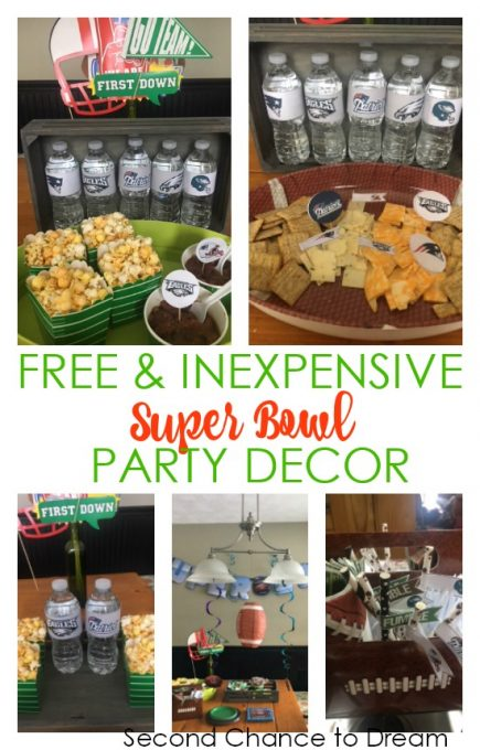 Second Chance to Dream: Free & Inexpensive Super Bowl Party Decor