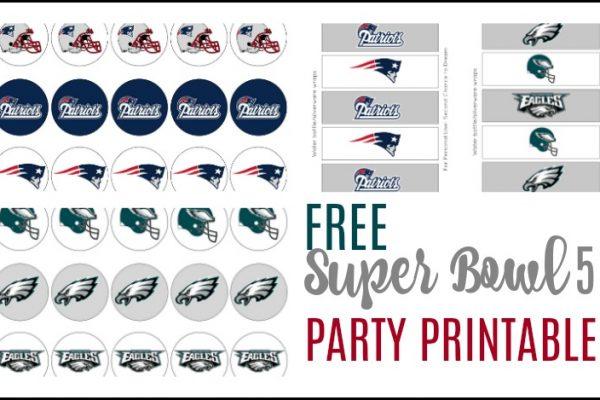 FREE Super Bowl 52 Party Printables
