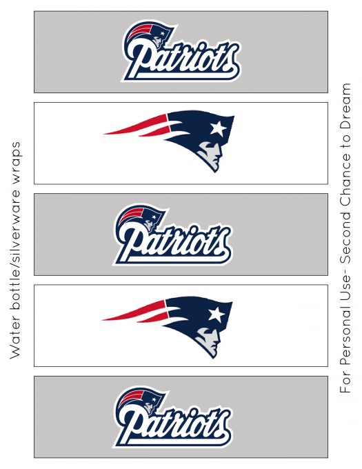 Second Chance to Dream: Super Bowl 52 Party Printables #superbowl52 #gameday #freeprintables