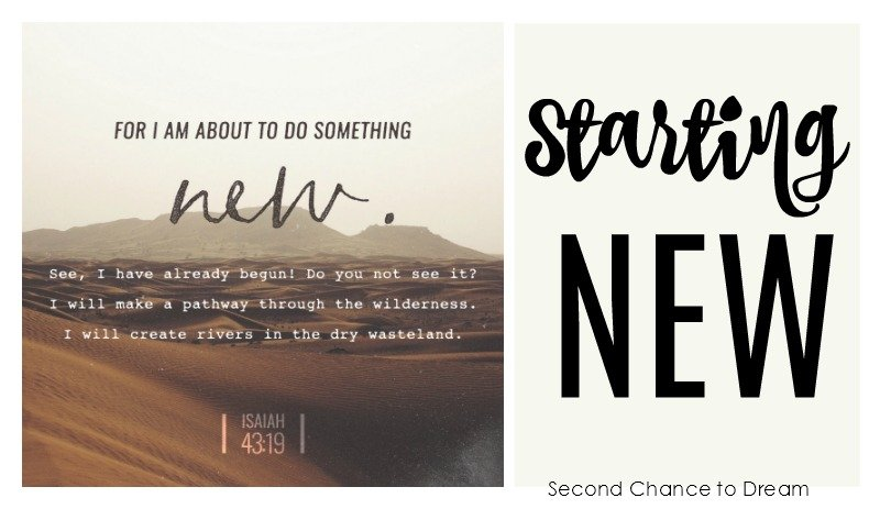 Second Chance to Dream: Starting New #lifelessons #newbeginnings