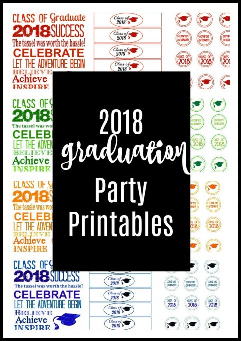 Second Chance to Dream: 2018 Graduation Party Printables #Free #2018 #graduation #printables