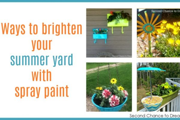 Ways to brighten your summer yard with spray paint
