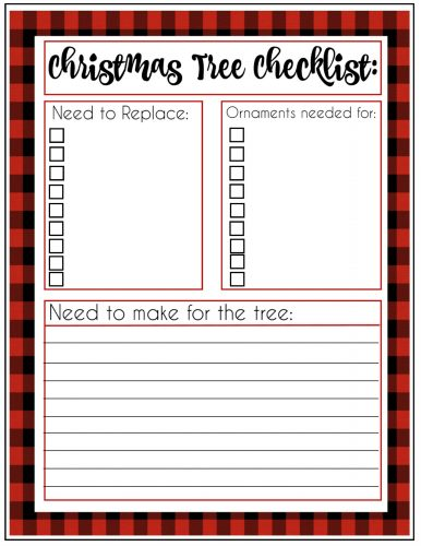 Second Chance to Dream: Free 2018 Buffalo Check Christmas Planner #buffalocheck #christmas #planner