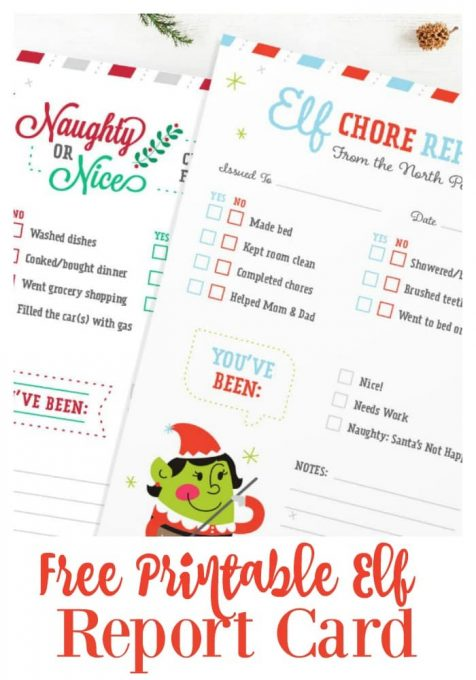 Second Chance to Dream: Free Printable Elf Report Card #elf #elfontheshelf