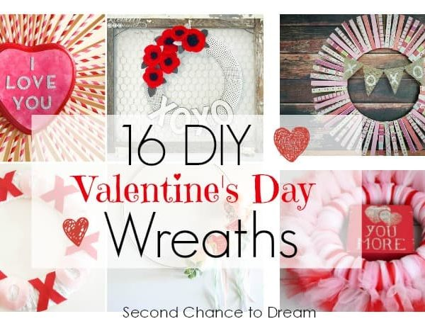 Second Chance to Dream: 16 DIY Valentine's Day Wreaths #valentinesday #diy #wreaths