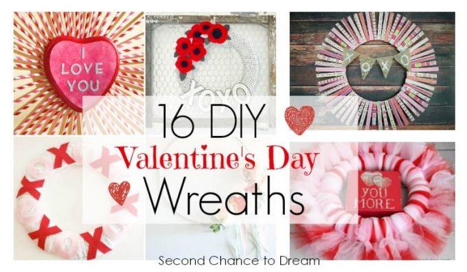 Second Chance to Dream: 16 DIY Valentine's Day Wreaths #valentinesday #diy #wreaths