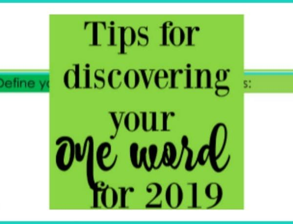 Second Chance to Dream: My One Word for 2019 #oneword2019 #oneoword #2019