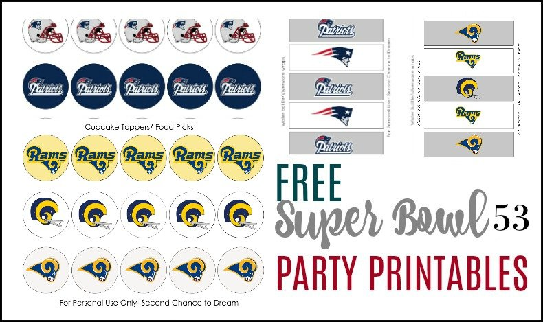 Second Chance to Dream: Super Bowl Printables