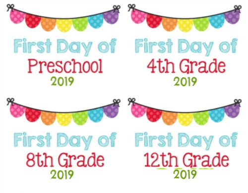 Second Chance to Dream: 2019 First Day of School Printables #BacktoSchool #printables