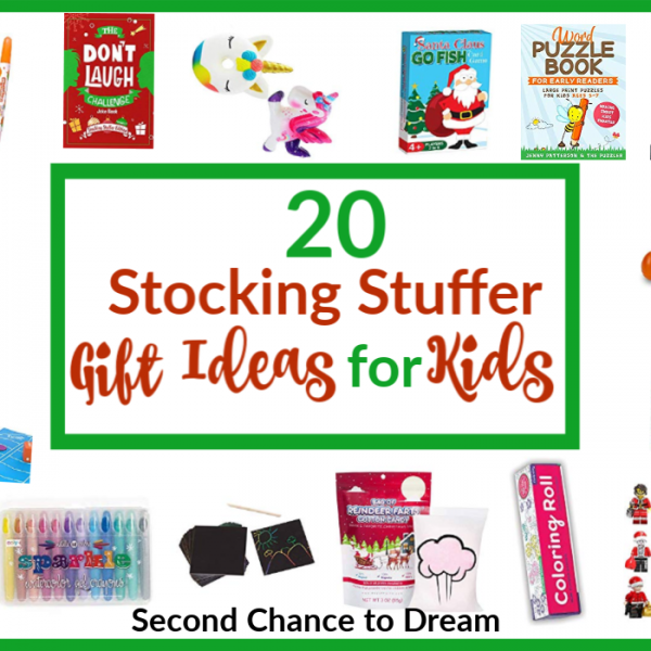 Second Chance to Dream: 20 Stocking Stuffer Gift Ideas for Kids #stockingstuffers #giftideas #kidsstockingstuffers