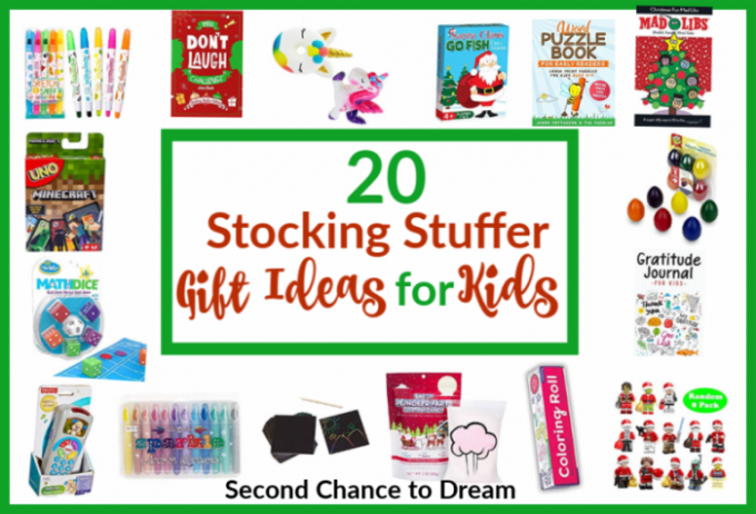 Second Chance to Dream: 20 Stocking Stuffer Gift Ideas for Kids #stockingstuffers #giftideas #kidsstockingstuffers