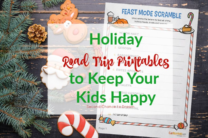 Second Chance to Dream: Holiday Road Trip Printables to Keep your Kids Happy